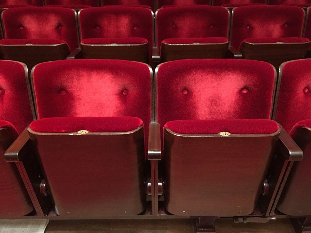 コンサートホールの座席