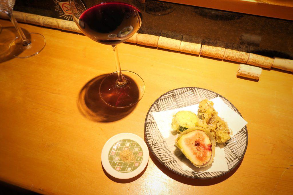 イチジク・舞茸・ズッキーニの天ぷら