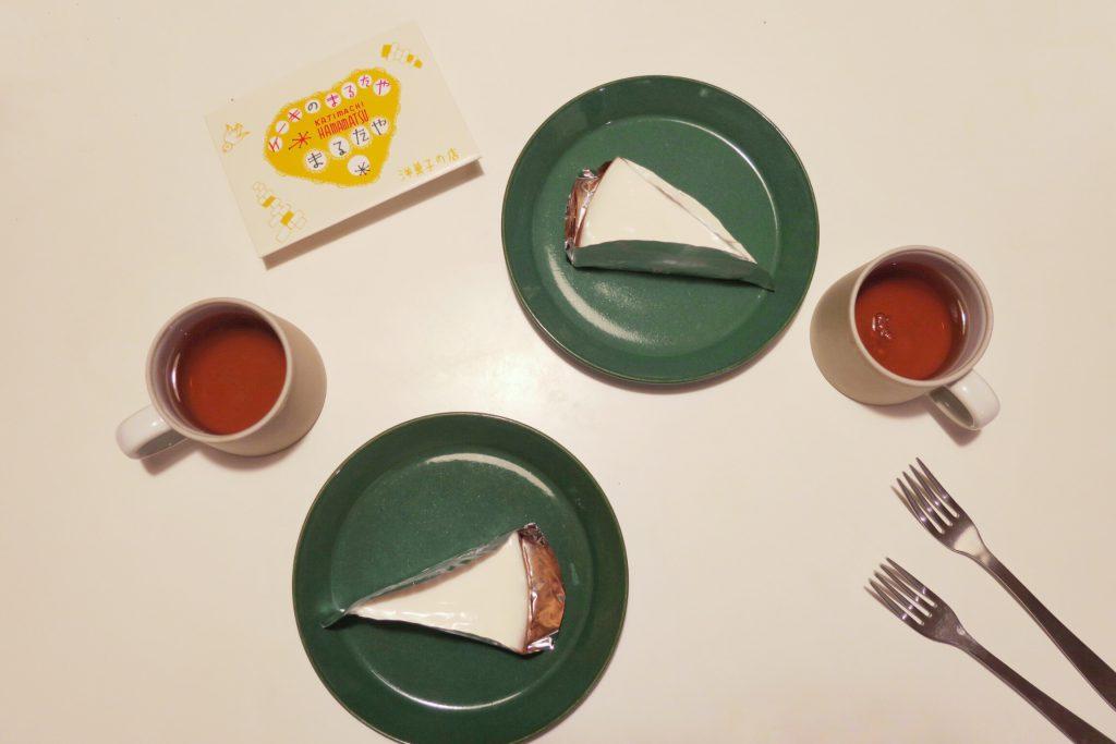 まるたやのチーズケーキでティータイム