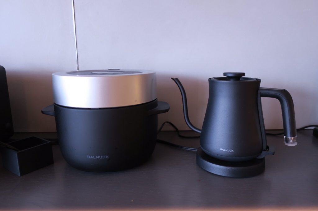 バルミューダの炊飯器とケトル