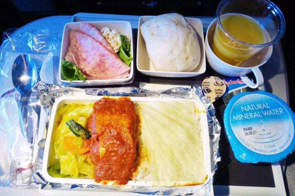 シンガポール航空機内食ブックザクック サンバルフィッシュ
