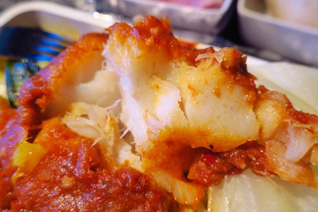 シンガポール航空機内食ブックザクック サンバルフィッシュ up