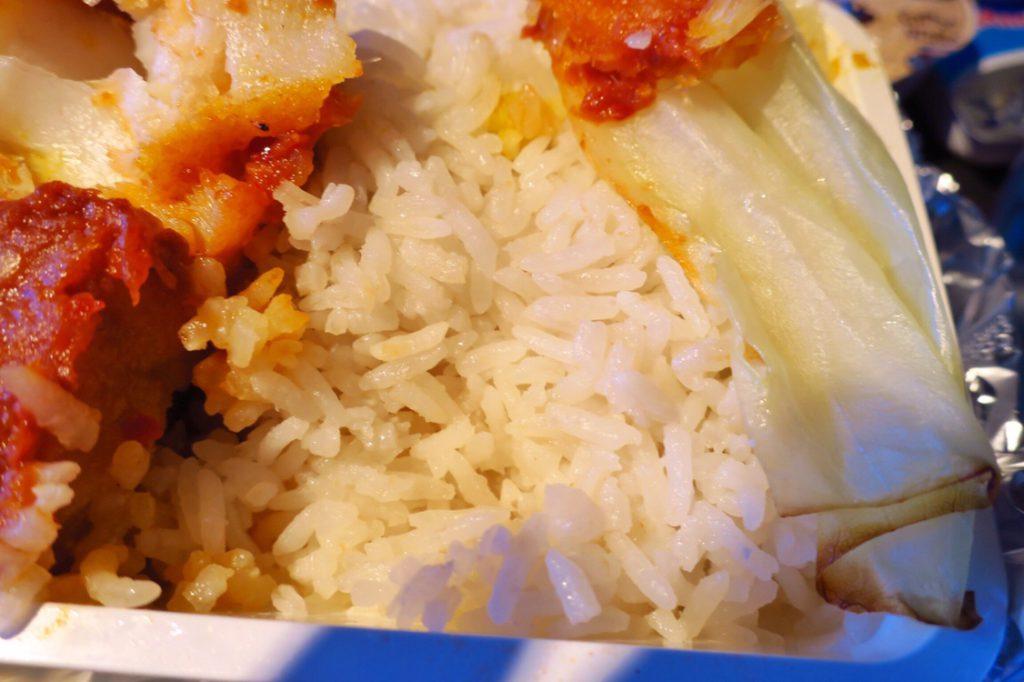 シンガポール航空機内食ブックザクック ナシレマ(ココナッツミルクライス)