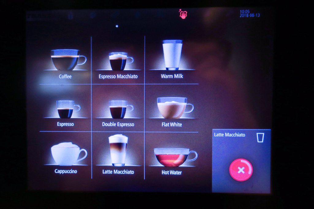 パン パシフィック サービススイート ビーチロード シンガポールの朝食ビュッフェ コーヒーマシンUP