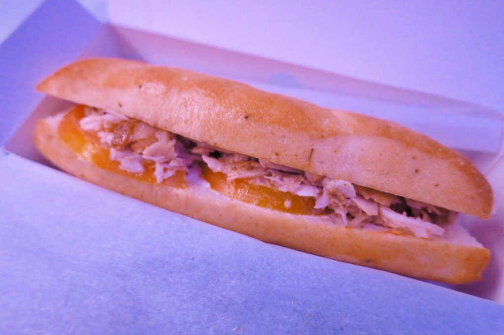 シンガポール航空機内食ブックザクック 深夜の軽食 パニーニサンド