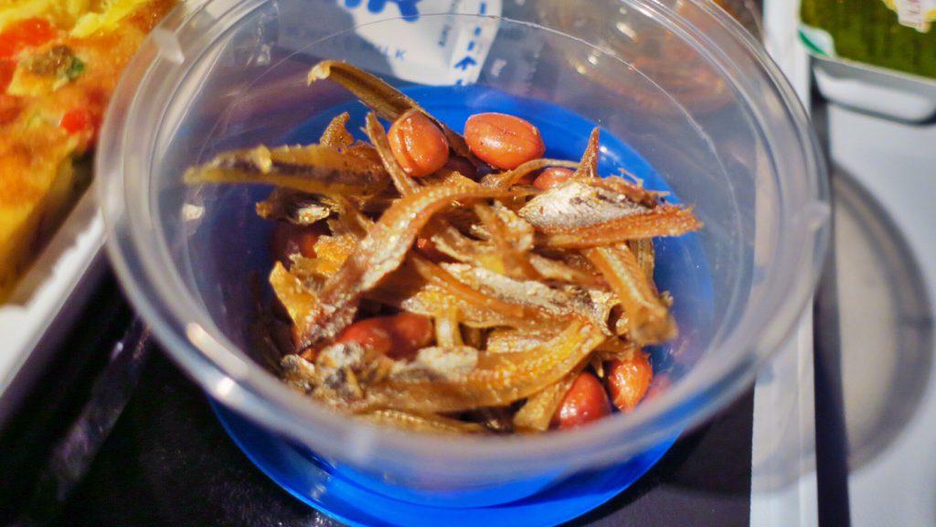 シンガポール航空機内食ブックザクック 朝食限定メニュー いりことピーナッツ