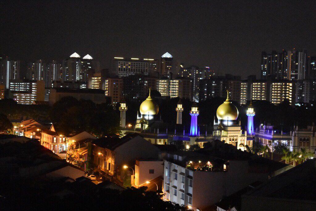 1ベッドルーム エグゼクティブ (1 Bedroom Executive) からの眺望スルタン・モスク夜