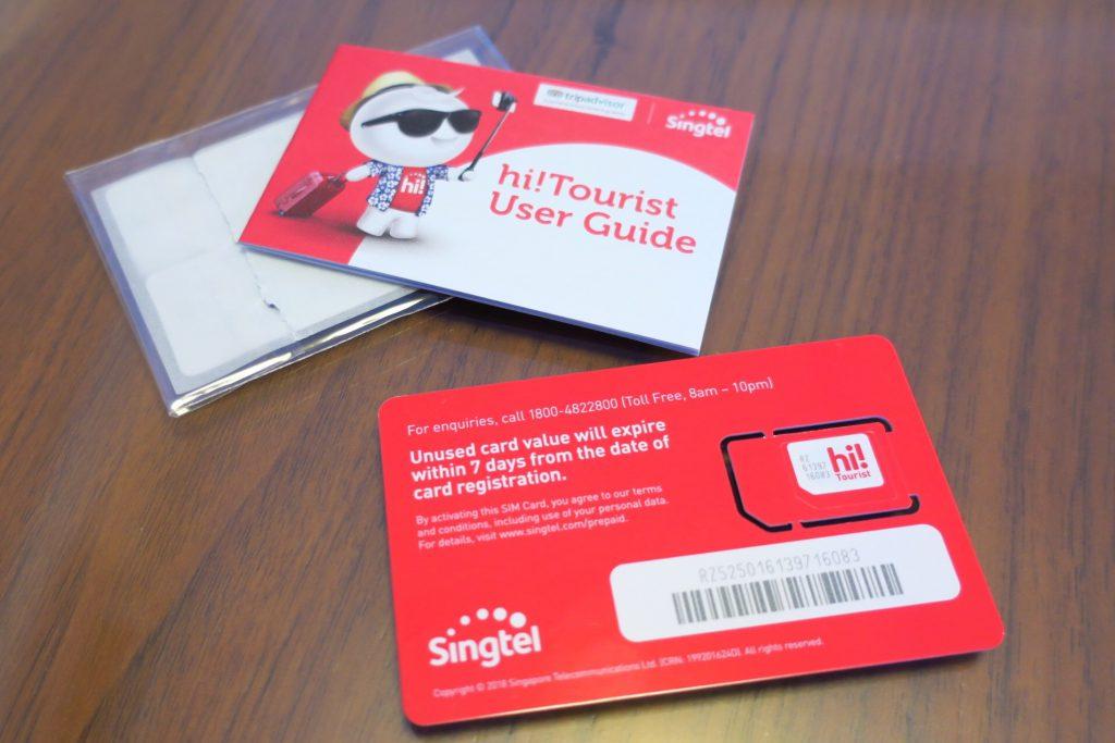 tourist sim card Singtel