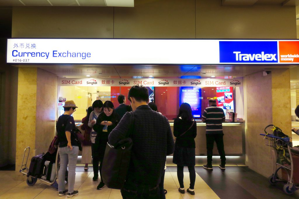exchange in Changi airport T2