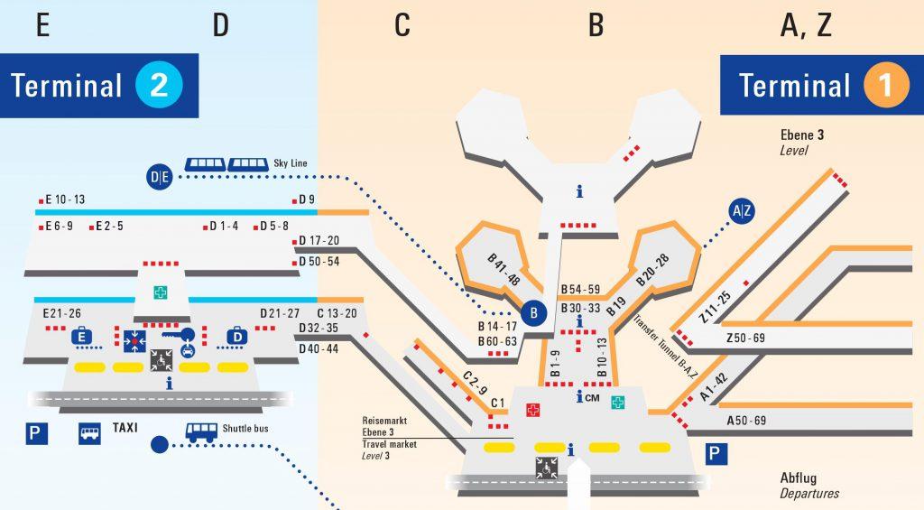 フランクフルト空港マップ