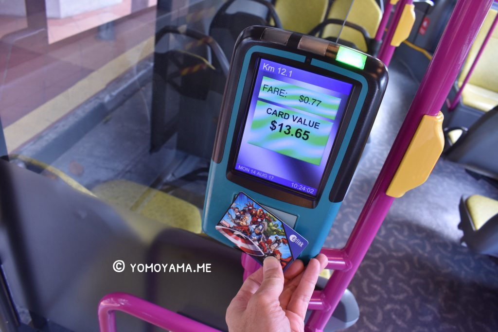 ez-link card in singapore bus