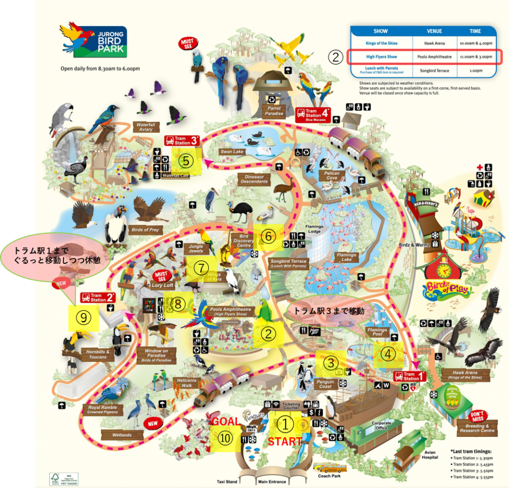 jurong bird park perfect map