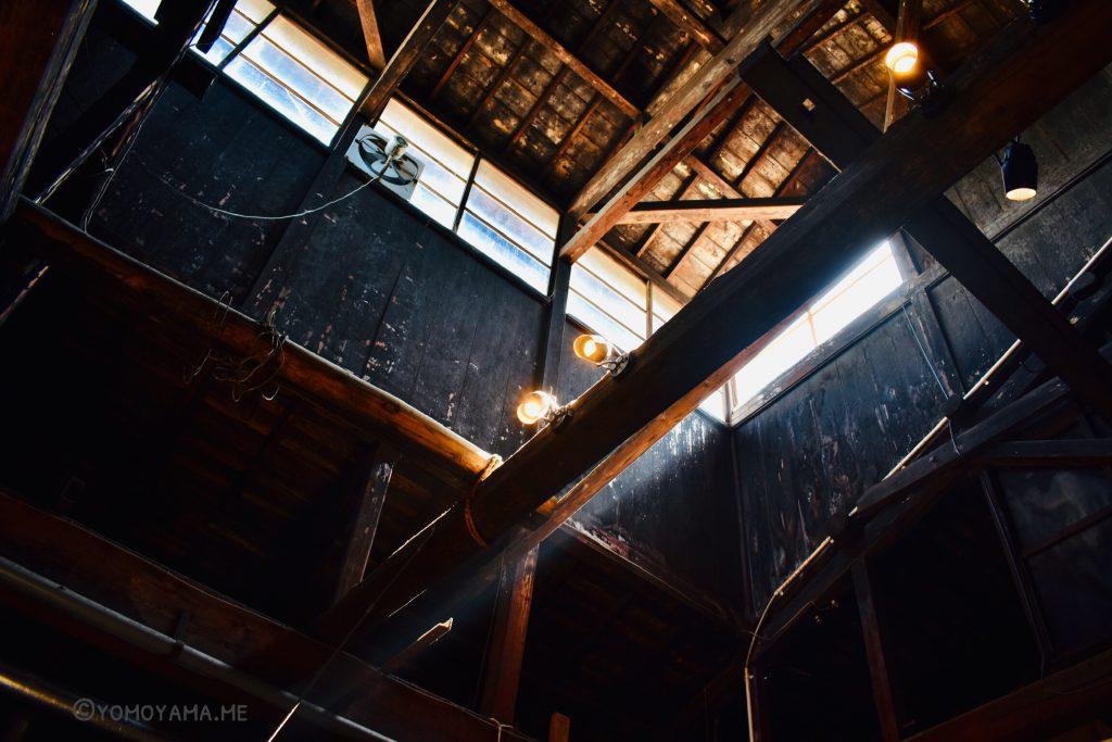 今代司酒造 黒く煤けた天井