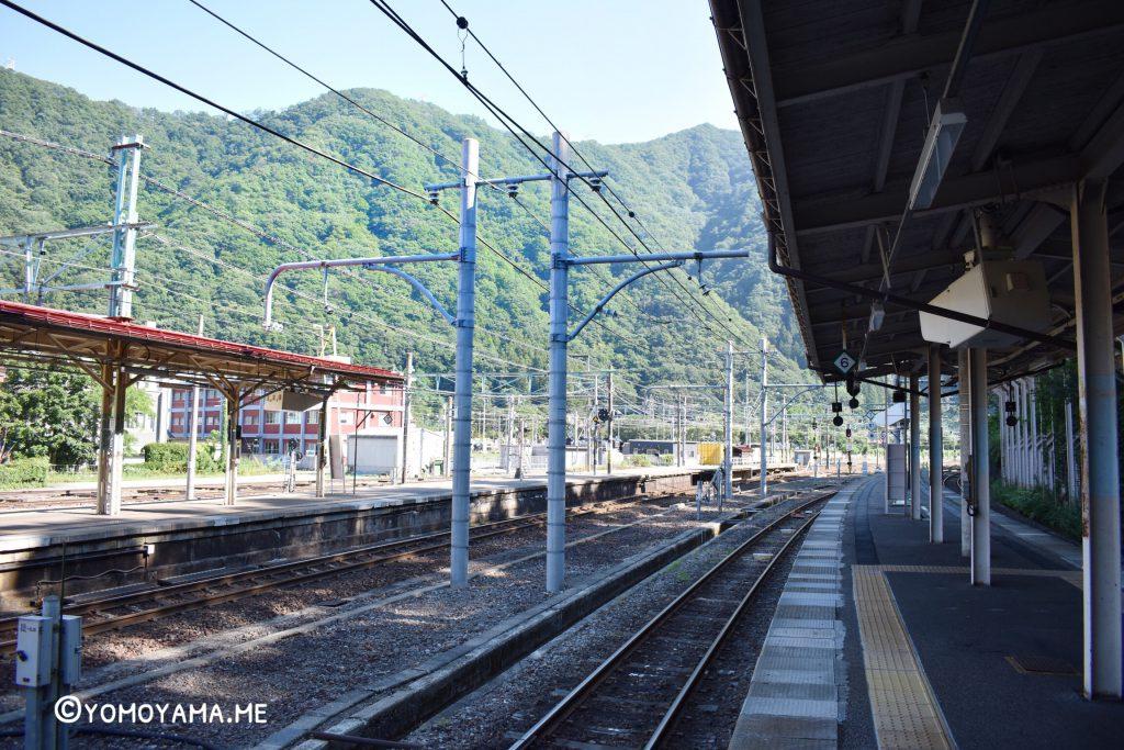 青春18きっぷ旅 水上駅 ホーム