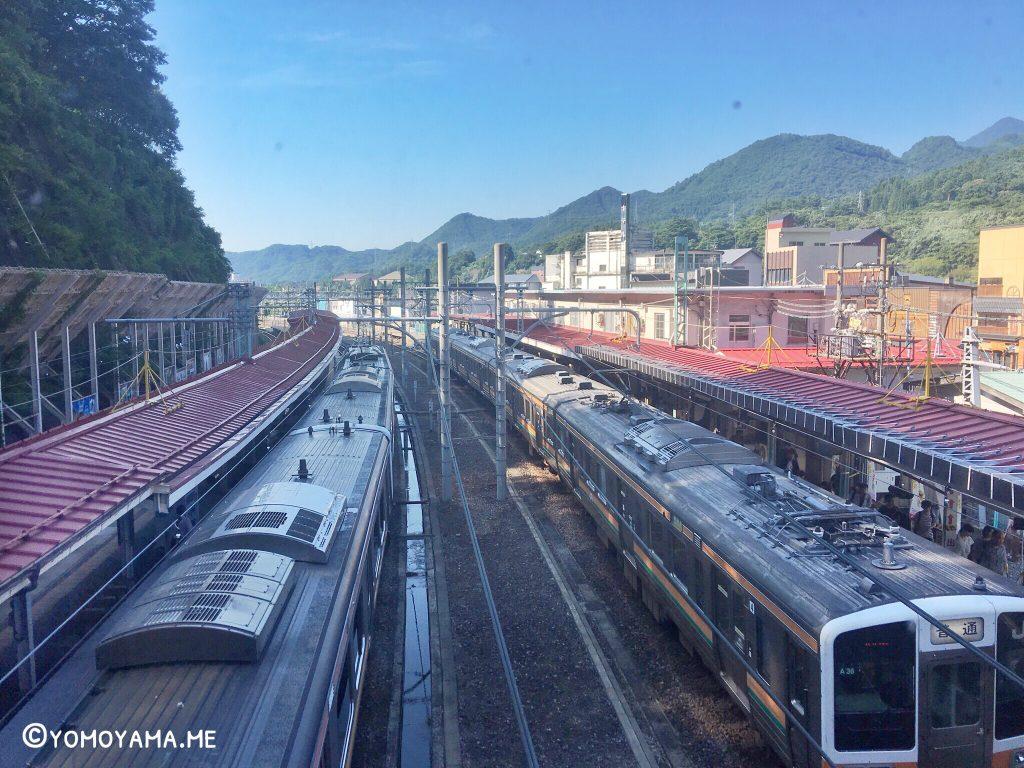 青春18きっぷ旅 水上駅 跨線橋