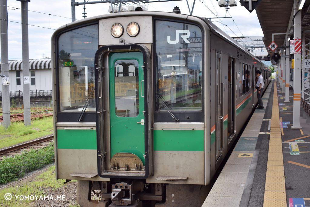 青春18きっぷ旅 米沢から山形駅への電車