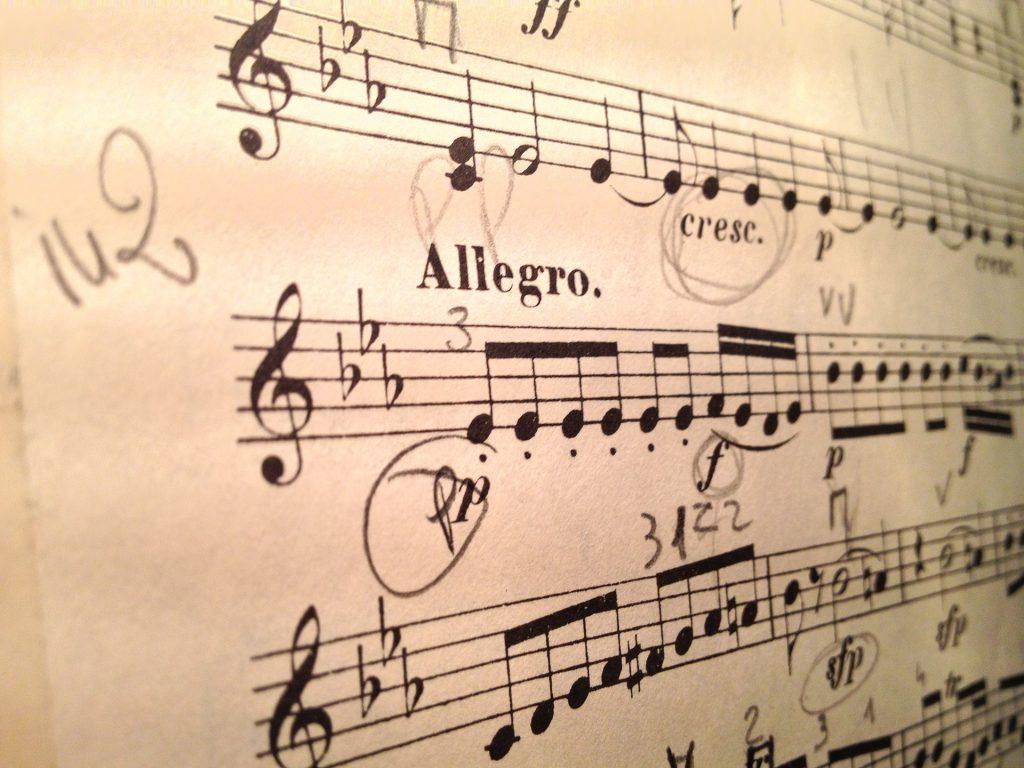 魔笛のヴァイオリンスコア