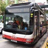 シンガポールで次々やってくるバス