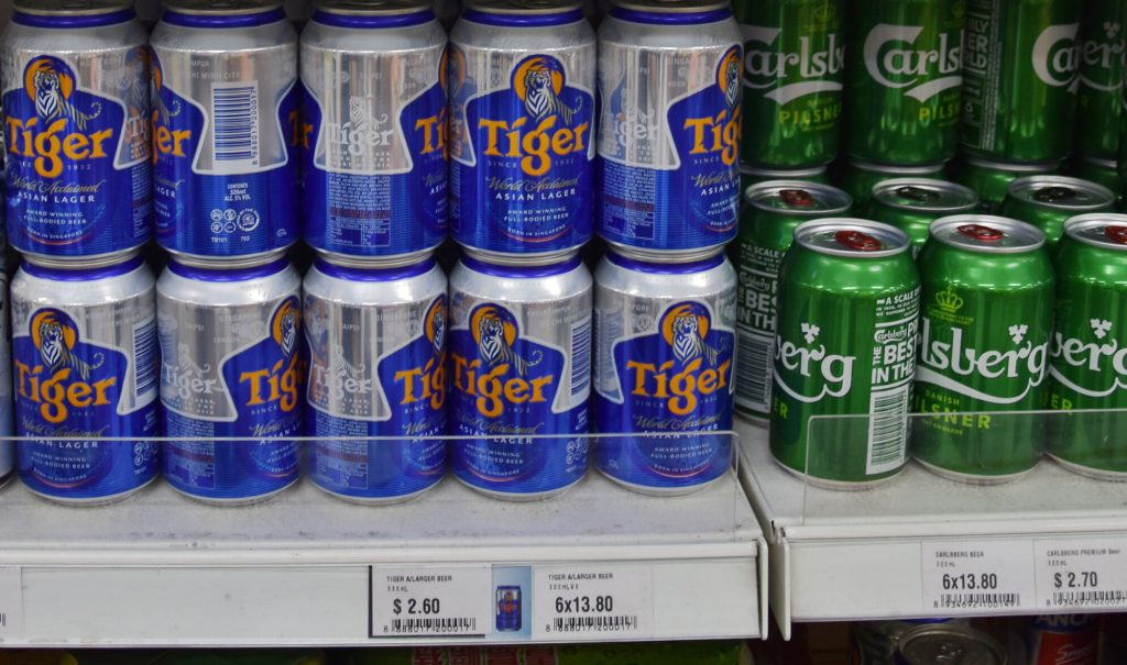 大有超級百貨(Da You Departmental Store)のタイガービール価格