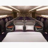 シンガポール航空ビジネスクラスのダブルベッド