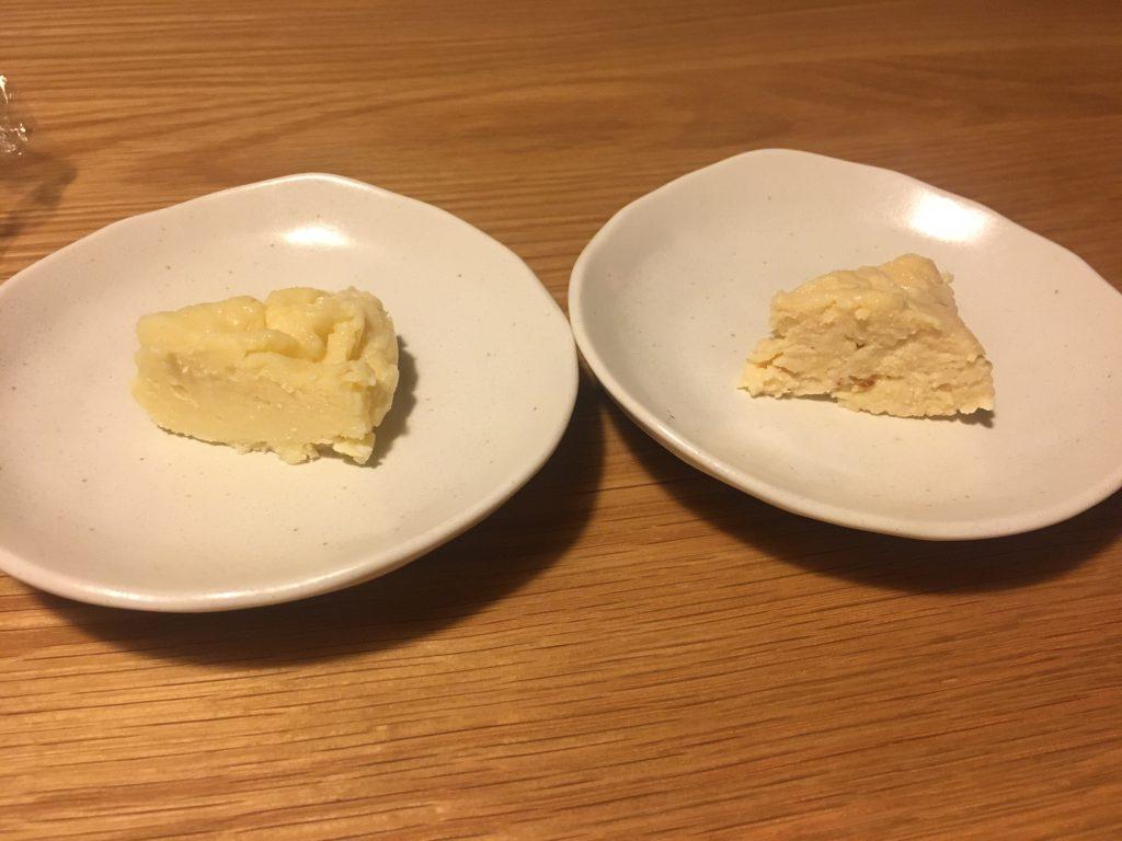 フライパン蘇とオールレンジ蘇断面比較