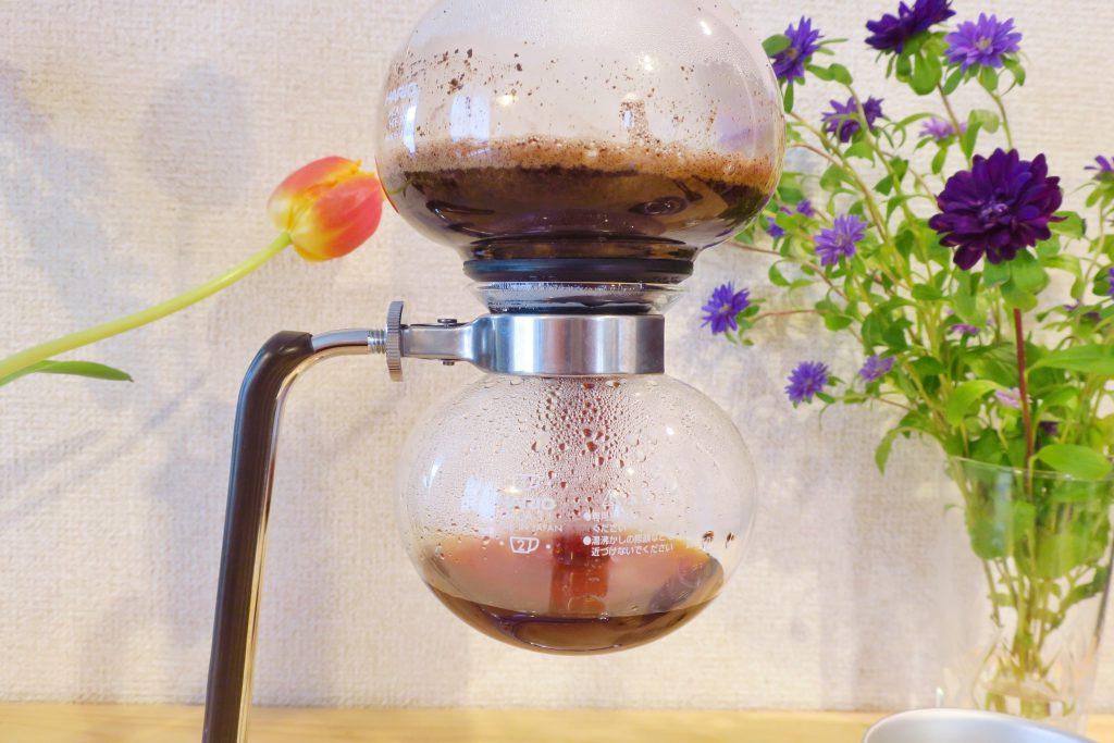 サイフォンコーヒー 豆が落ちてくる