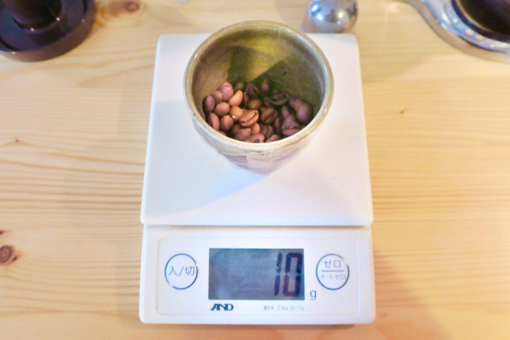 コーヒー豆の量の目安