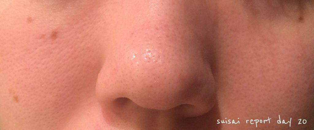 suisai 酵素洗顔20日目