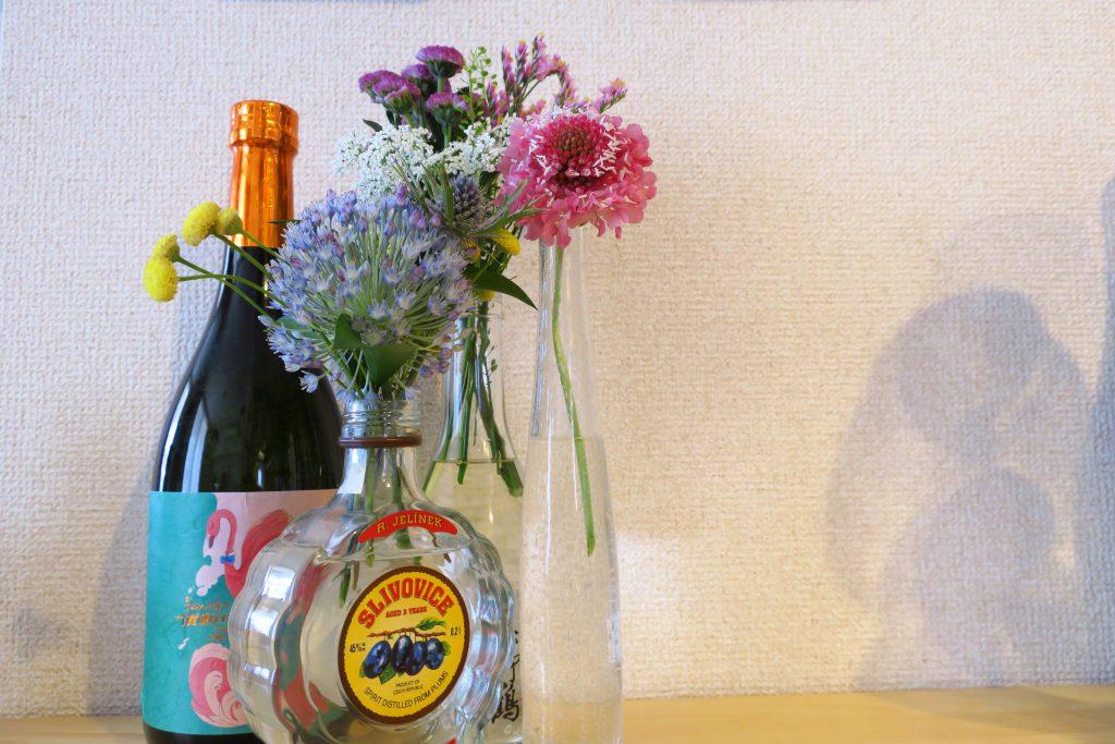 FLOWER1回目のお花と2回目のお花を並べてパシャリ