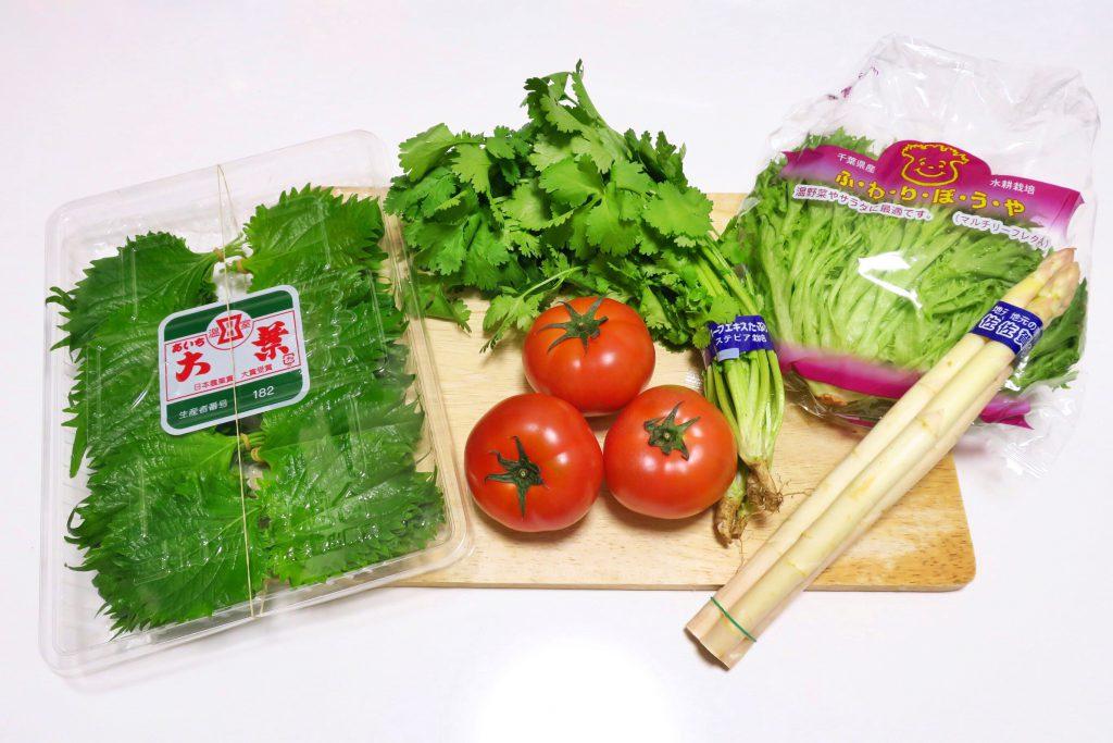 クックパッドマートで注文した春の野菜サラダセット