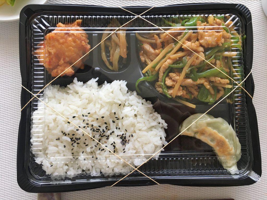 東十条土鍋・大餃子チンジャオロース弁当