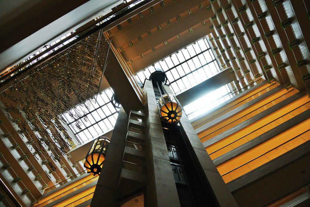 シンガポール リージェントホテルのエレベーター