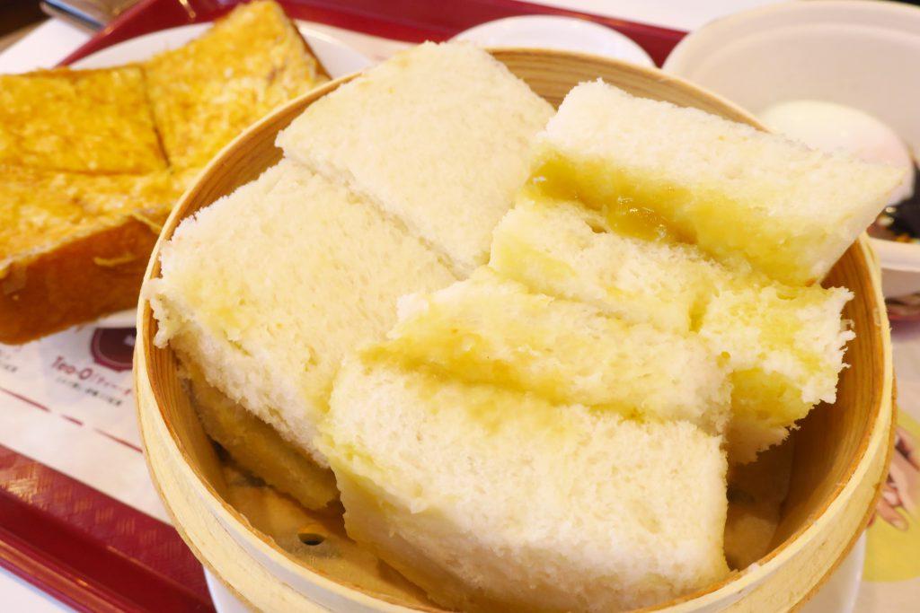 ヤクンカヤトーストの蒸しパンカヤジャムサンド
