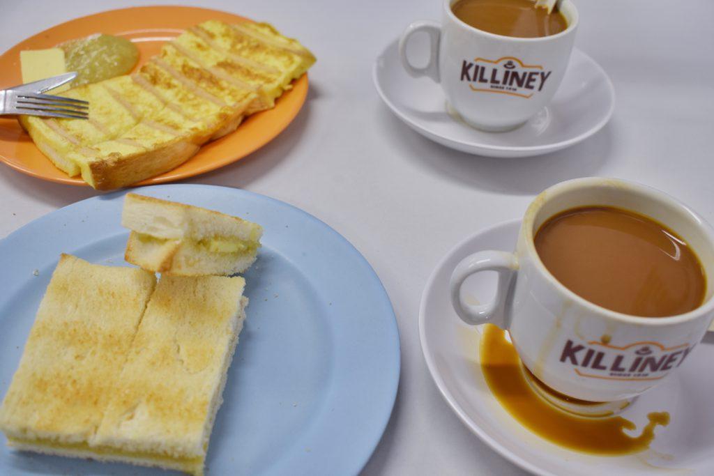 キリニー・コピティアムのコピとカヤトースト