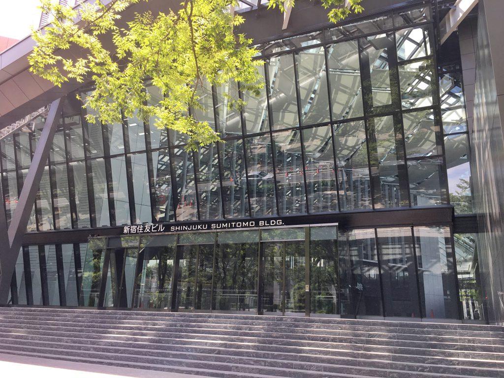 2020年7月1日にリニューアルオープンした新宿住友ビルの入り口