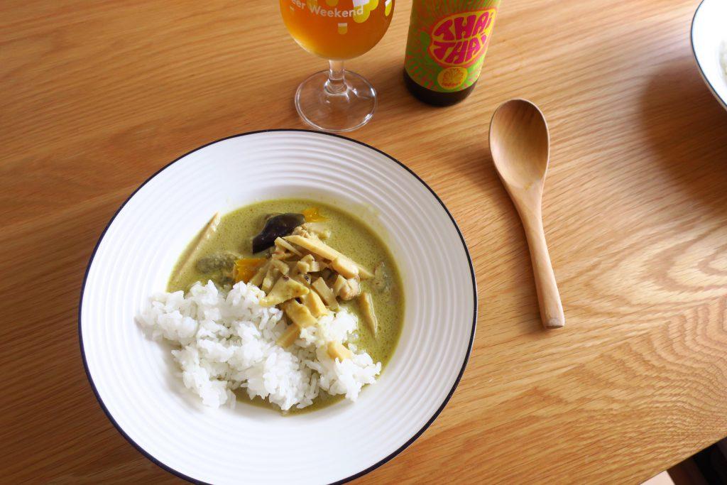Roi Thaiのグリーンカレーとタイタイ・ビールのペアリング